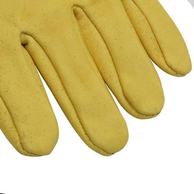 1set Beekeeping Gloves Goatskin Bee Keeping With Vented Beekeeper Long Sleeves  6