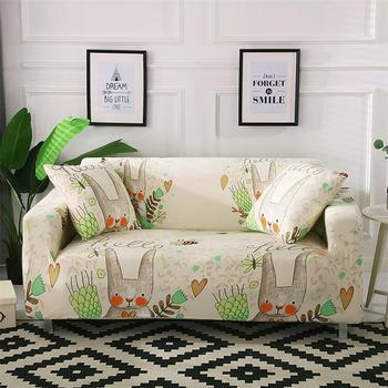 44 rozciągliwy na sofę narzuty nadrukowany wzór 1 2 3 4-Seat elastan narzuta na sofę narzuta na sofę pokrowiec na meble do salonu zwierzęta domowe tanie i dobre opinie Sofa cover 90-140cm 145-185cm 195-230cm 235-300cm Cushioncover45X45cm RSIN025 Rozkładana okładka Drukowane Skośnym cartoon
