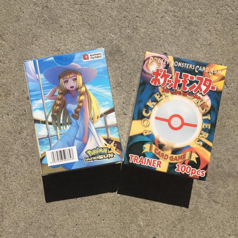100pcs/set  No Repeat Pokemon Flash Card  PTCG Game Battle Carte 92PCS Trainer Card +8PCS Props Shining Cards Child Toy Gift Box