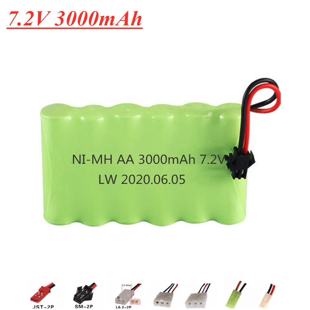 7.2V 3000mah 2800mAh NI-MH <font><b>Battery</b></font> for Remote control electric toy boat car truck <font><b>7.2</b></font> <font><b>V</b></font> 2400mAh AA nimh Rechargeable <font><b>Battery</b></font> image