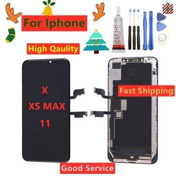 100% Tested LCD OLED For iPhone XS MAX LCD 11 X Screen LCD Display Touch Screen Digitizer Assembly For iPhoneX XS Max 11 LCD