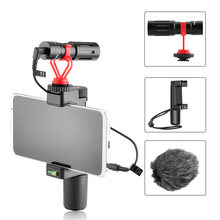 Смартфон видео auiod комплект запись дробовик микрофон с Трипод