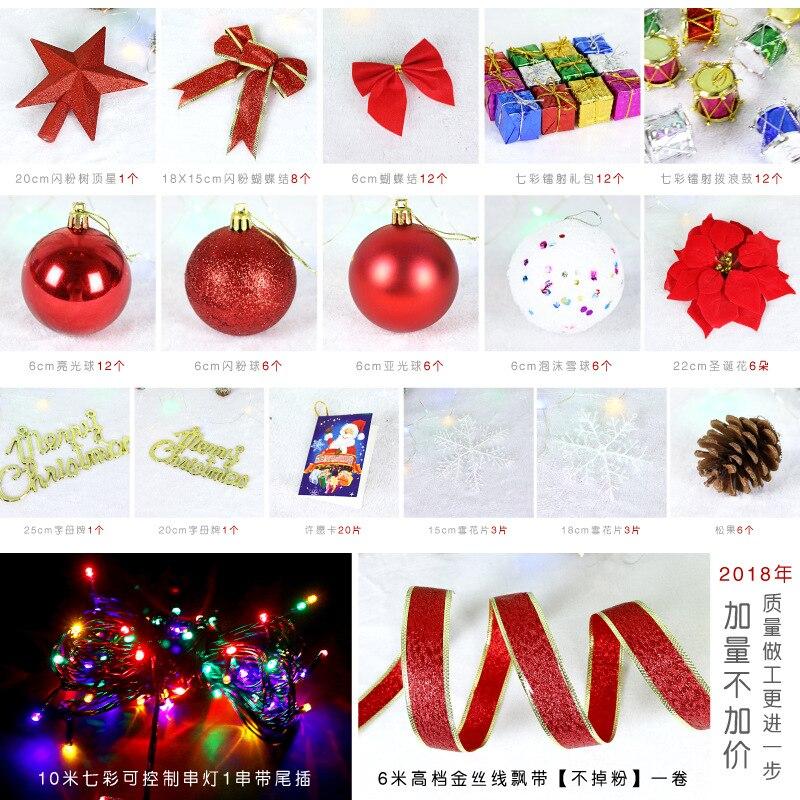 180cm de lujo sin luz grande árbol de Navidad conjunto lazos bola campana tarjeta cinta Hotel centro comercial decoración del hogar Navidad - 5