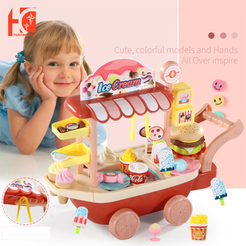 Ice cream Toy Children Pretend Play Toys Simulation Candy Mini Push Car Early Education Toys For Kids Girl Gifts simulation soft silicone baby dolls photography props pregnancy early education utensil children play house toys l633