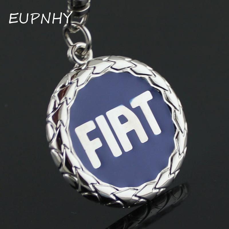 EUPNHY 1Pc FIAT Car Logo Keychain Metal Pendant Key Ring Holder Trinket Car Keychain Pendant Keyrings Bag Ornament