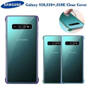 Image 1 - Original samsung telefone claro capa para samsung galaxy s10 s10plus s10e SM G9730 SM G9750 SM G9750 tpu capa do telefone móvel 6 cores