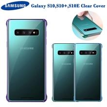 Оригинальный прозрачный чехол для телефона Samsung GALAXY S10, S10Plus, S10E, зеркальный чехол из ТПУ, 6 цветов