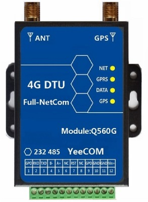 Full Netcom LTE 4G DTU+GPS With Positioning Transparent Transmission Protocol Configuration HTTP MQTT Acquisition Instruction