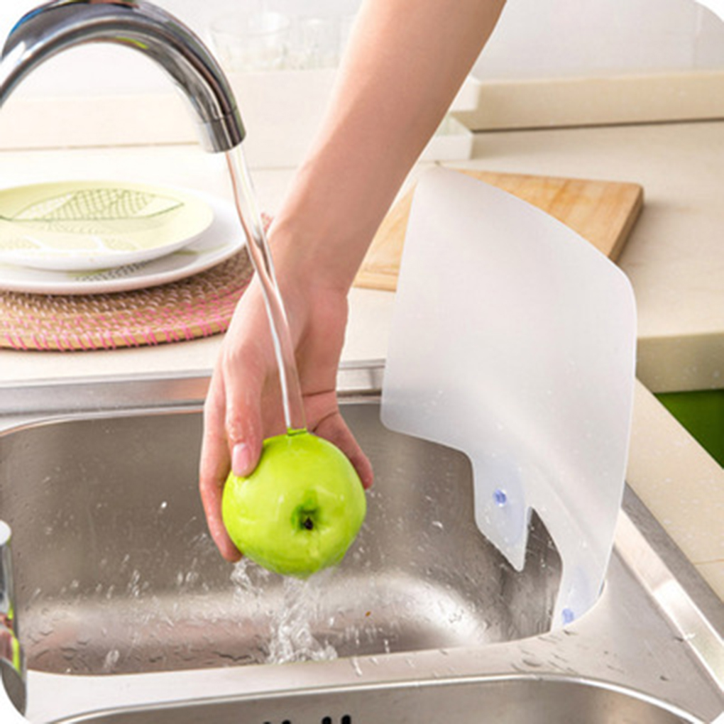 Water Splash Guard Sucker Splash Water Baffle Pool Board Sink Shelf Kitchen Washing Dish Fruit Vegetable Anti-water Board