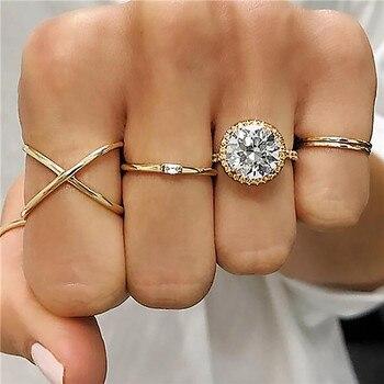 15 Pcs/set Women Fashion Rings Hearts Fatima Hands Virgin Mary Cross Leaf Hollow Geometric Crystal Ring Set Wedding Jewelry 12