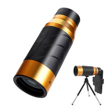 Telescopio Monocular BAK4 con zoom, binoculares para teléfono, Micro visión nocturna, para caza, Camping y viajes, 45x60 HD
