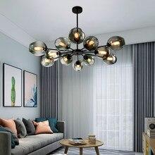 Lustre de vidro moderno casa decoração interior sala jantar lâmpada pendurada restaurante iluminação sala estar villa escadas lustre teto