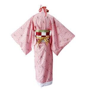 Image 5 - קוטלת שד Kimetsu לא Yaiba קאמאדו Nezuko קוספליי בגדי תערוכת כנס שנתי ביצועי ליל כל הקדושים cosplay תלבושות