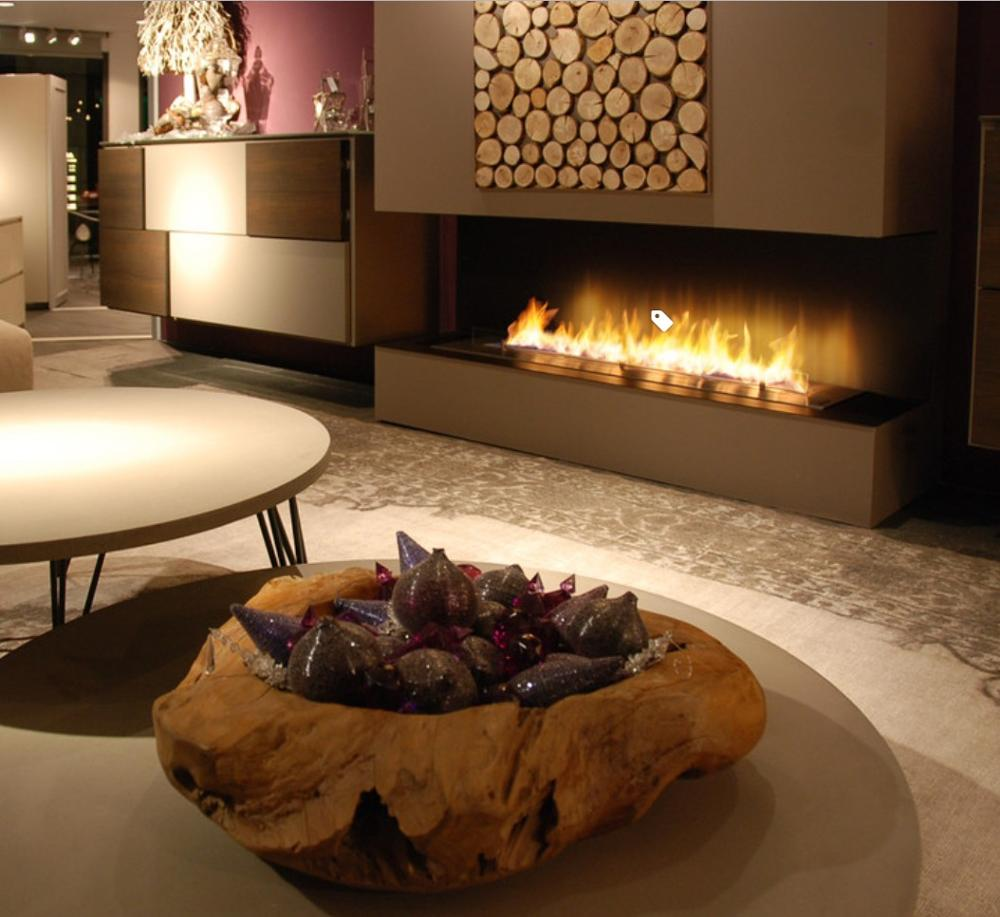 Inno Livinfg Fire 48 Inch Real Flame Electric Fireplace