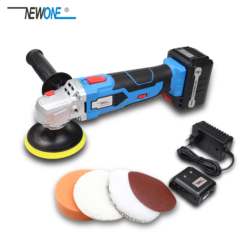 Waxing Machine With 16V Lithium Battery Portable Cordless Car Polisher 5-level Adjustable Speed Polishing Machine M10 Thread