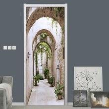 Абстрактная креативная наклейка на дверь s Настенная Наклейка