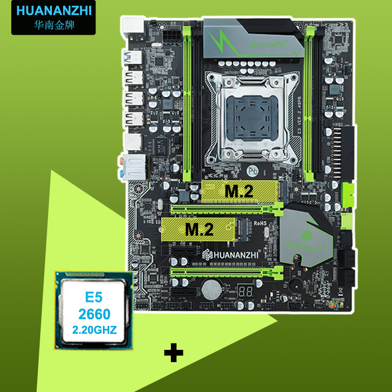 HUANAN motherboard CPU set X79 V2.49 motherboard Intel <font><b>Xeon</b></font> E5 <font><b>2660</b></font> C2 4 channels RAM support 64G the most all tested in WIN7 image
