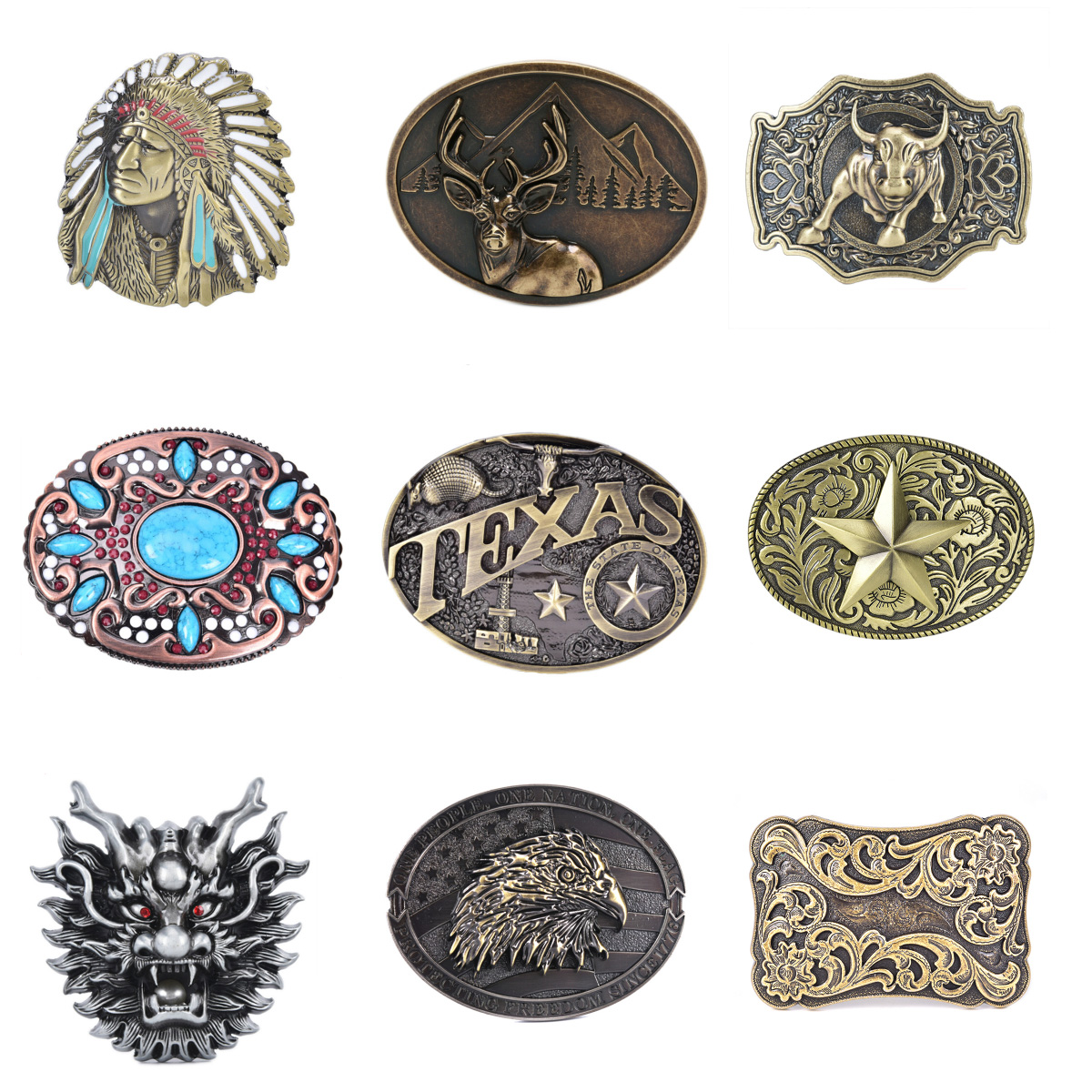 Mens' Belt Buckle WesBuck Brand Belt Buckle For Men Carpenter Mechanic Cowboy And Cowgirl Metal Tool Western Buckles Marvel