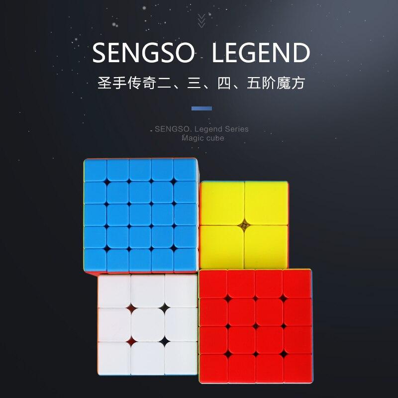 Sengso Legend 2x2x2 3x3x3 4x4x4 5x5x5 ShengShou Magico Cubo Pyramid Speed Cube Puzzle Brain Teaser 2*2 3*3 4*4 5*5