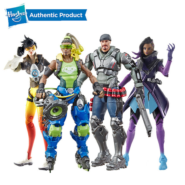 Hasbro Overwatch Ultimates Tracer Sombra Lucio Blackwatch Reyes 6 Cal kolekcjonerskie figurki gorąca sprzedaż popularna na rynku