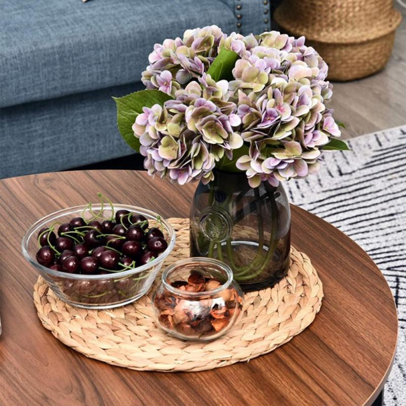 Creative Round Nordic Wood Coffee Table Bed Sofa Side Table Tea Snack Service Plate Tray Small Desk Living Room Furniture HWC