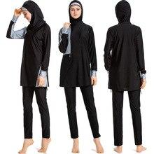Swimwear Women Hijab Beach-Wear Long-Sleeve Burkini Islamic Full-Cover Muslim Fashion