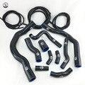 Силиконовый шланг нагревателя радиатора подходит + вакуумный шланг комплект для BMW MINI COOPER S R52 R53 01-06 (13 шт.) красный/синий/черный