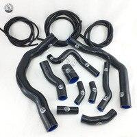 Mangueira de aquecedor de radiador de silicone ajuste + kit de mangueira de vácuo para bmw mini cooper s r52 r53 01 06 (13 peças) vermelho/azul/preto|Mangueiras e grampos| |  -