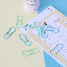Clipe de papel forma de cabaça simples clipe de papel clipes de papel metal planejador clipe bonito clipe de papel lote clipes de papel