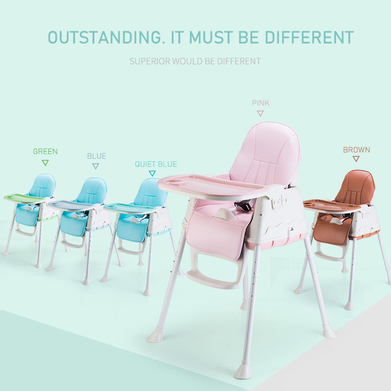 Baby high chair authentic portable baby seat baby dinner table multifunction adjustable folding chairs for children