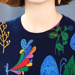 YISU осенне-зимний пуловер, свитер для женщин, высокое качество, свободные вязаные свитера, джемперы, Женский мягкий свитер с мультяшным принтом для женщин