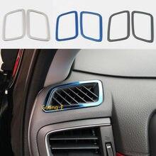 Car Styling nasadka ze stali nierdzewnej dekoracji wykończenia przodu wylot klimatyzacji Vent 2 sztuk dla Honda CRV CR-V 2017 2018 2019 2020
