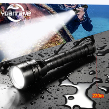 Powerful Diving Flashlight T6/L2 Scuba Dive Torch DEEP Underwater Waterproof 50W Led Flashlights Lantern light by 18650 Battery