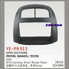 Montagem do carro quadro painel para proton daihastu para toyota passo 2011 abs acessórios kits 2 din dvd gps estéreo android