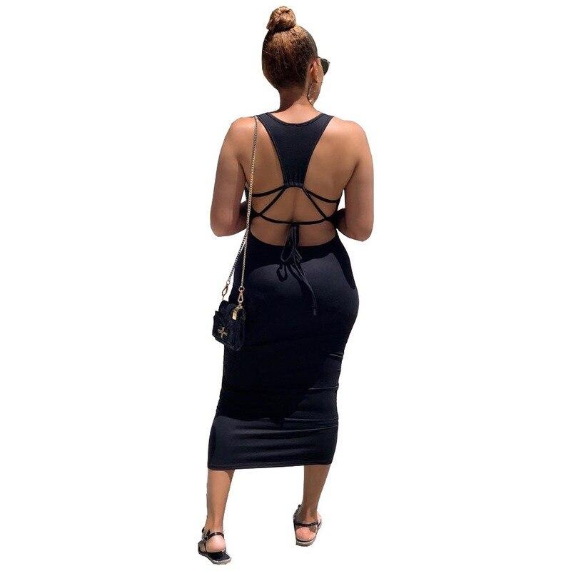 Черный без рукавов ремень платье сплошной цвет длинный ремень платья спинки свободная одежда сексуальное платье старинные платья для женщин