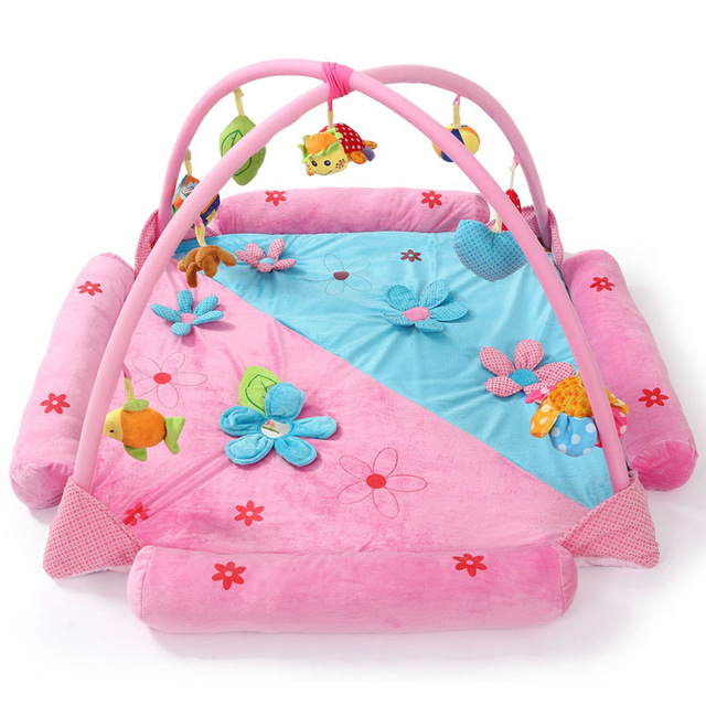 Classic Princess Fitness Gym Rack Carpet Baby Game Pad Blanket Kids Crawling Mat Fitness Rack Educational Toys for Children
