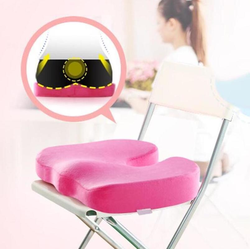 Travel Seat Gel Cushion Coccyx Orthopedic Memory Foam U Seat Massage Chair Cushion Pad Car Office Massage Cushion