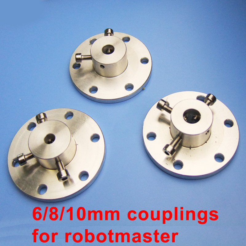 Moebius 6/8/10mm Metal Couplings For Robomaster 152mm Mecanum Wheel Robot Car DIY Parts
