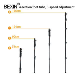 Image 3 - BEXIN New portable lightweight 47cm monopod aluminum camera stand P 264 witn phone clip for dslr camera Video