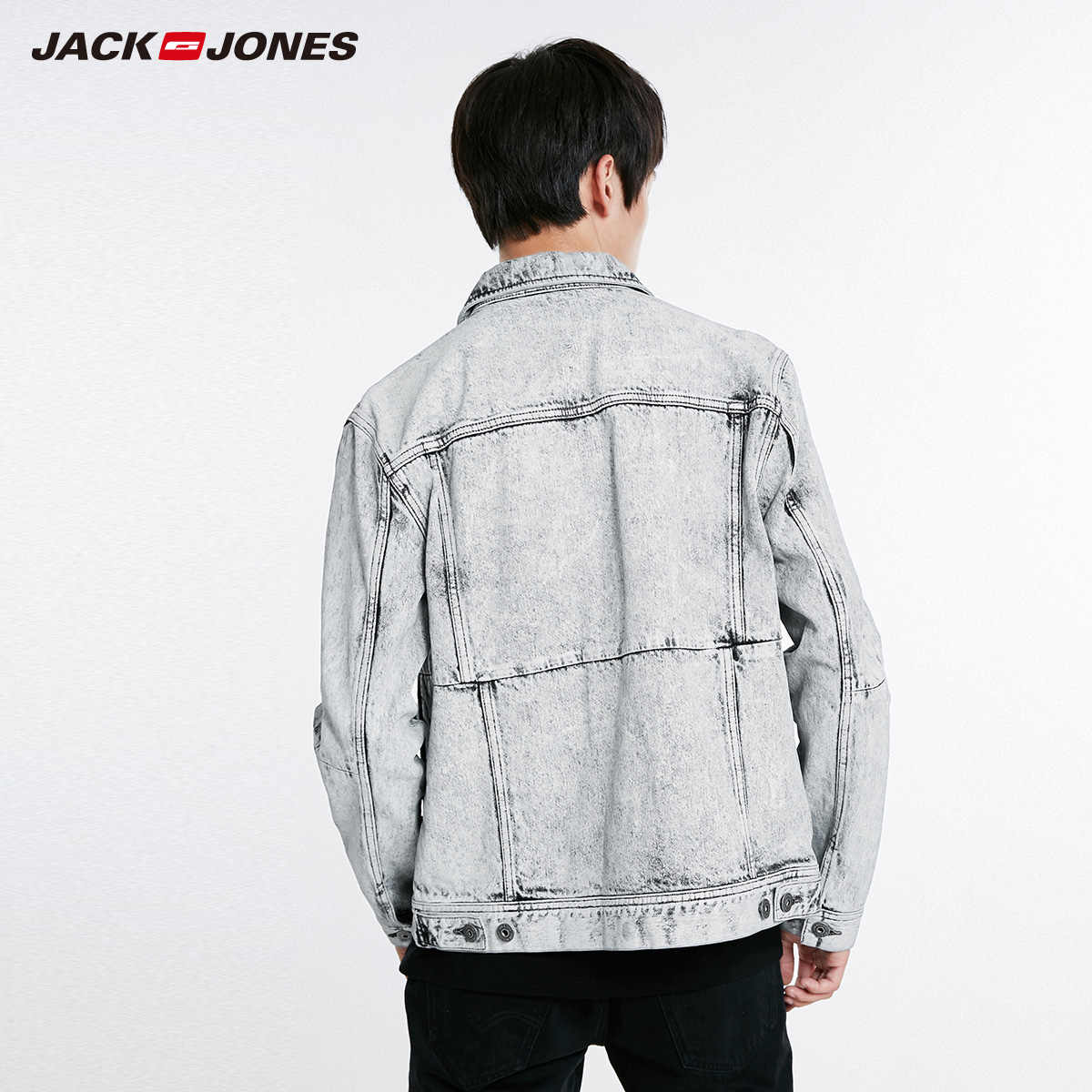 Jack Jones New Nam Retro Denim Áo Khoác Áo Khoác | 218357523