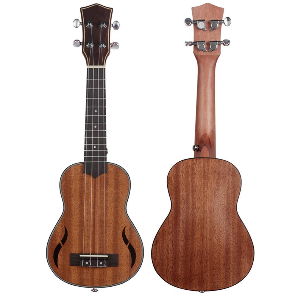 21 pouces 4 cordes en acajou ukulélé hawaïen petit Instrument de jeu de guitare