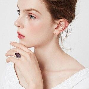 Image 2 - Szjinaoガーネットリング女性のためのリアル925スターリングシルバーマーキスリング宝石ファッションで有名なブランドのジュエリー女性のためのホット