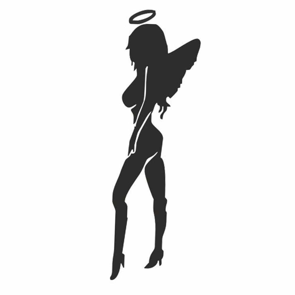 Reflect Angels And Devils Универсальная автомобильная Передняя боковая крышка двигателя Виниловая наклейка для тела Стайлинг Светоотражающая наклейка