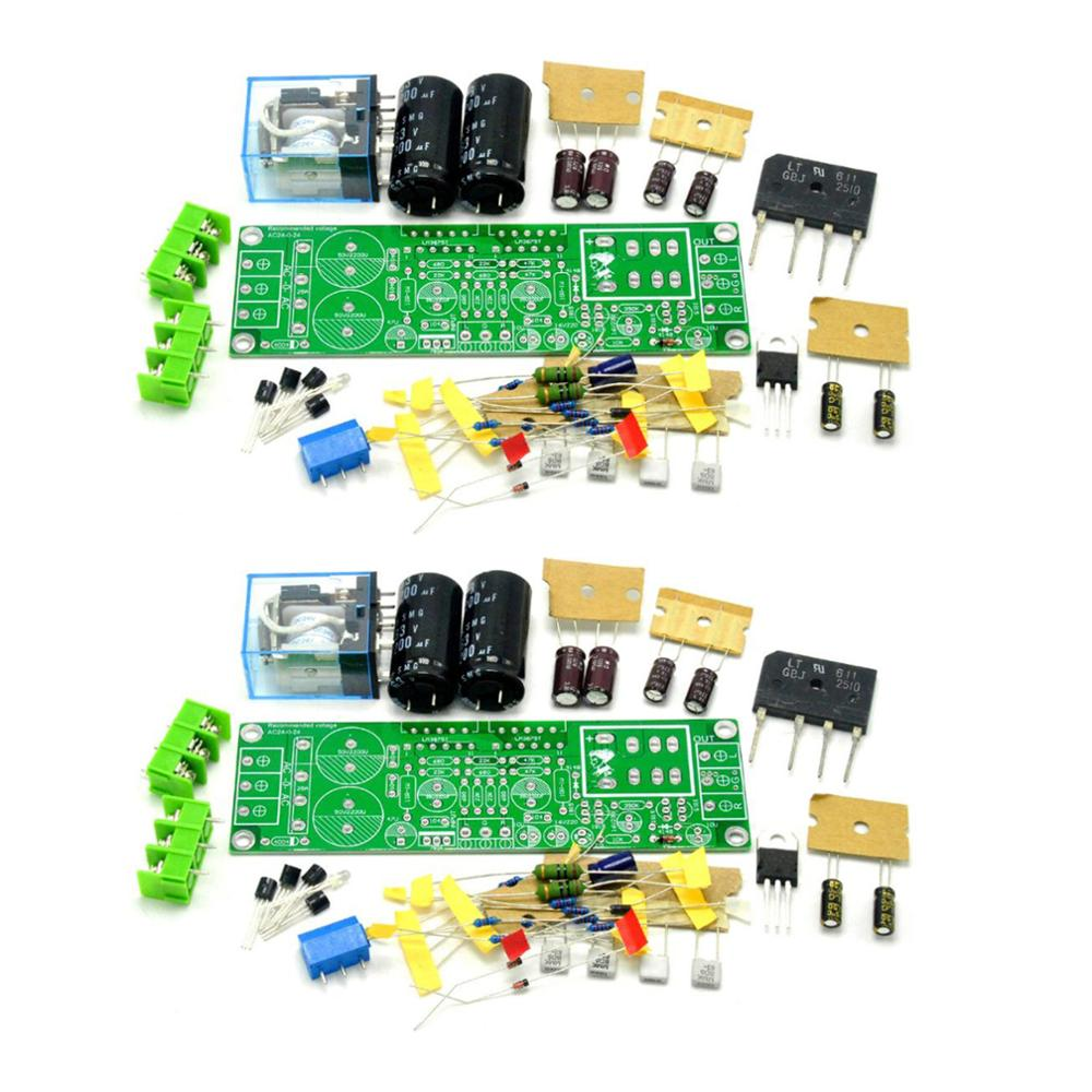 One Pair 2pcs GAINCLONE LM3875 <font><b>50W</b></font>+<font><b>50W</b></font> 8R <font><b>Amplifier</b></font> Kit DIY Two-channel <font><b>Speaker</b></font> Protective Circuit image