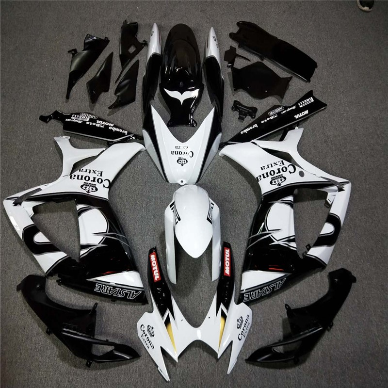 <font><b>Fairing</b></font> <font><b>kit</b></font> for suzuki injection molded <font><b>gsxr</b></font> <font><b>600</b></font> 750 2006 <font><b>2007</b></font> white black gsxr600 gsxr750 06 07 <font><b>fairing</b></font> <font><b>kit</b></font> image