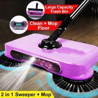 Máquina de barrido de acero inoxidable, escoba recogedora de polvo con mango, mopa para limpiar el piso