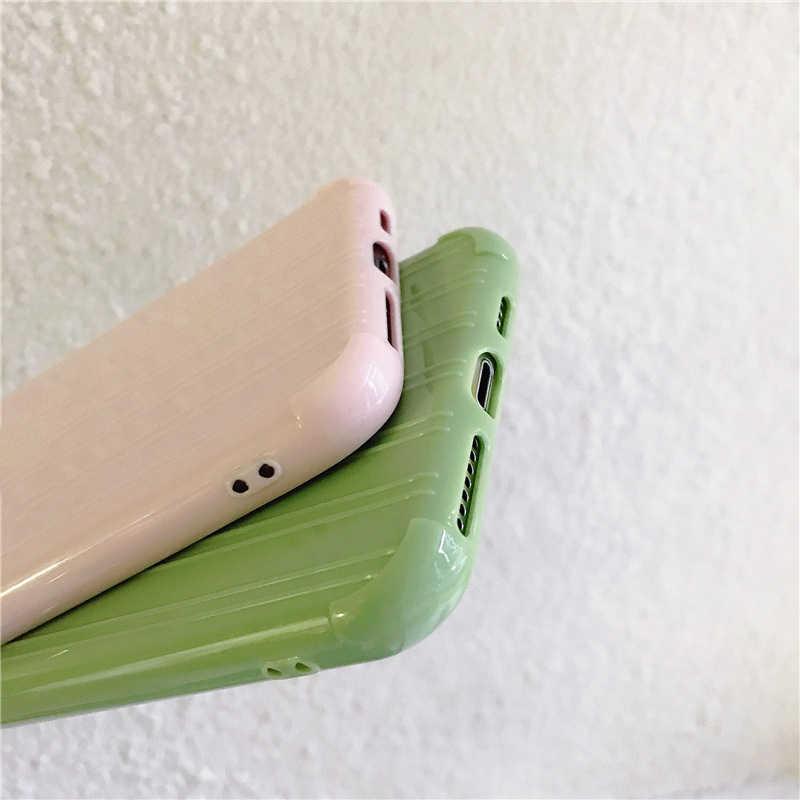 Hündin Trolley Koffer Textur Telefon Fall IPhone 11 Pro Max X XS MAX 8 7 6S Plus Nette Candy farbe Gehäuse