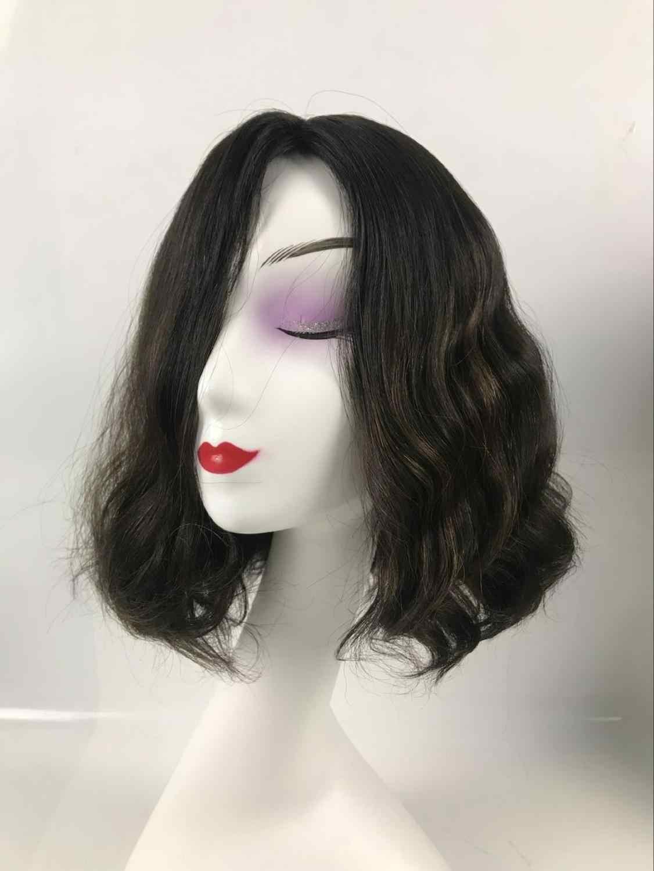 Alishevy wykonane na zamówienie silk top naturalne włosy europejskiej peruki niewielka fala peruka żydowska koszerna peruka najlepsze Sheitels w magazynie