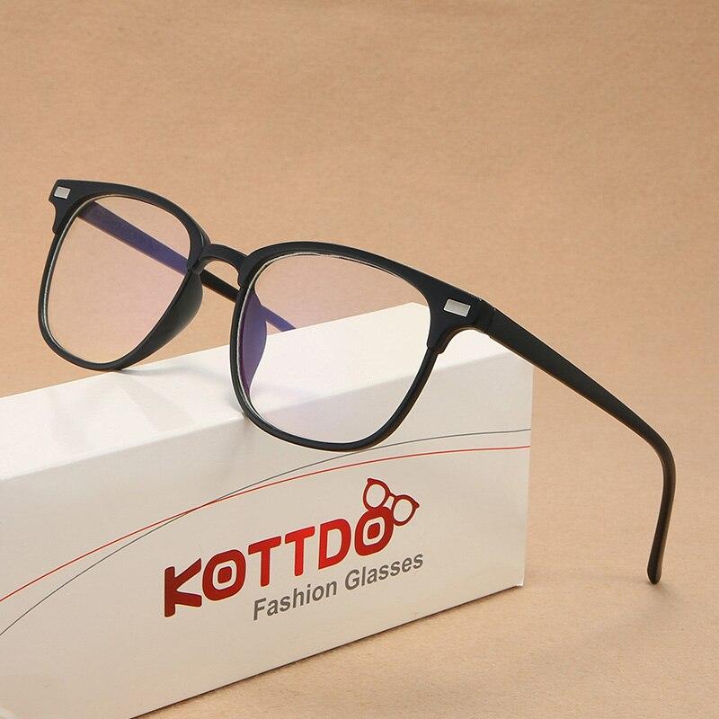 Classic Square Retro Plastic Myopia Eyeglasses Frame Brand Designer Reading Optical Clear Lens Mujer