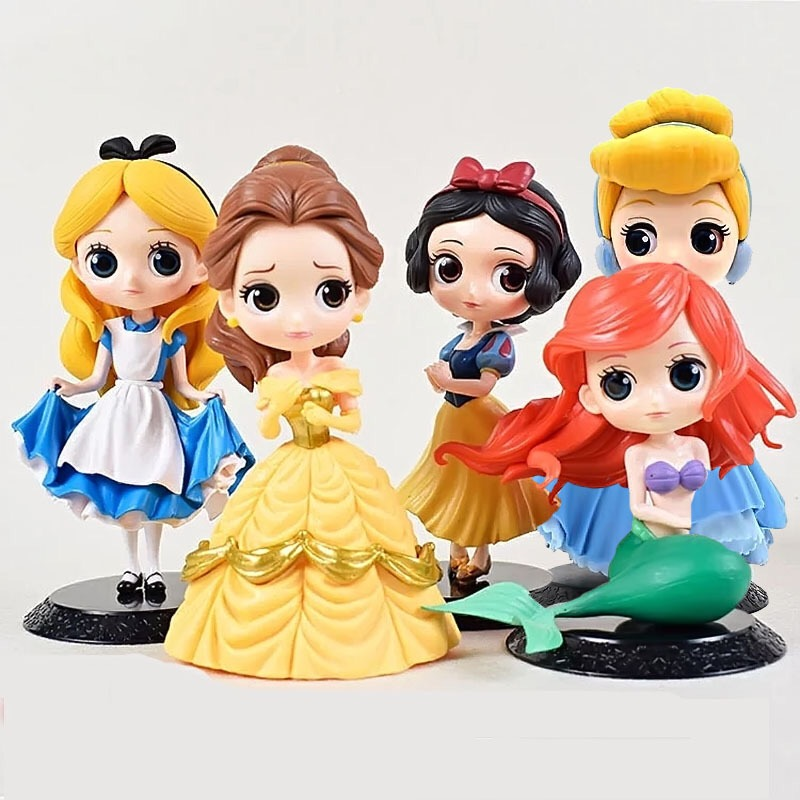 Figuras de ação da princesa anna elsa frozen, modelos de disney de pvc coleção de bonecas, presente de aniversário para crianças, brinquedos e presentes de natal